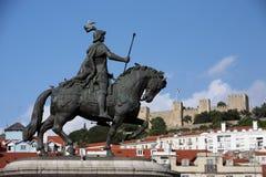 EUROPE PORTUGAL LISBON BAIXA CASTELO Royalty Free Stock Photos