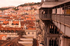 EUROPE PORTUGAL LISBON BAIXA CITY CENTRE. The city centre of Baixa in the city centre of Lisbon in Portugal in Europe Stock Images