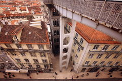 EUROPE PORTUGAL LISBON BAIXA CITY CENTRE. The city centre of Baixa in the city centre of Lisbon in Portugal in Europe Royalty Free Stock Photography