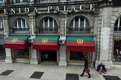 EUROPE PORTUGAL LISBON BAIXA CITY CENTRE. A house in the city centre of Baixa in the city centre of Lisbon in Portugal in Europe Stock Image