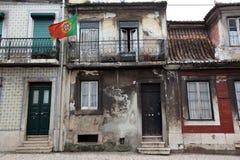 EUROPE PORTUGAL LISBON BAIXA CITY CENTRE. A house in the city centre of Baixa in the city centre of Lisbon in Portugal in Europe Stock Images
