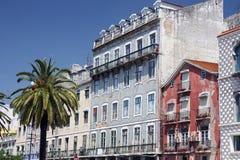 EUROPE PORTUGAL LISBON BAIXA CITY CENTRE. A house in the city centre of Baixa in the city centre of Lisbon in Portugal in Europe Stock Photos