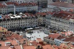 EUROPE PORTUGAL LISBON BAIXA CITY CENTRE. The paraca da figueira in the city centre of Baixa in the city centre of Lisbon in Portugal in Europe Stock Images