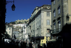 EUROPE PORTUGAL LISBON BAIXA CITY CENTRE Royalty Free Stock Image