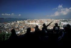 EUROPE PORTUGAL LISBON BAIXA CITY CENTRE. A view in the city centre of Baixa in the city centre of Lisbon in Portugal in Europe Stock Image