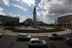 EUROPE PORTUGAL LISBON BAIXA RESTAURADORES. The monumento dos restauradores in baixa in the city of Lisbon in Portugal in Europe Royalty Free Stock Photos