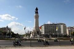 EUROPE PORTUGAL LISBON BAIXA RESTAURADORES. The monumento dos restauradores in baixa in the city of Lisbon in Portugal in Europe Royalty Free Stock Image