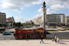 EUROPE PORTUGAL LISBON BAIXA RESTAURADORES. The monumento dos restauradores in baixa in the city of Lisbon in Portugal in Europe Stock Photos