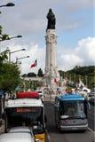 EUROPE PORTUGAL LISBON BAIXA RESTAURADORES. The monumento dos restauradores in baixa in the city of Lisbon in Portugal in Europe Stock Image