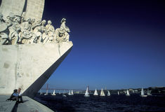 EUROPE PORTUGAL LISBON PADRAO DOS DESCOBRIMENTOS Royalty Free Stock Photo