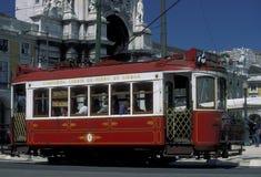 EUROPE PORTUGAL LISBON TRANSPORT FUNICULAR TRAIN Royalty Free Stock Photos