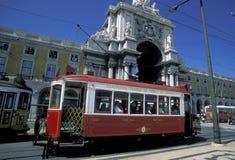 EUROPE PORTUGAL LISBON TRANSPORT FUNICULAR TRAIN Royalty Free Stock Photo