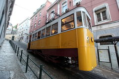 EUROPE PORTUGAL LISBON TRANSPORT FUNICULAR TRAIN Stock Images