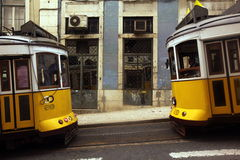 EUROPE PORTUGAL LISBON TRANSPORT FUNICULAR TRAIN Royalty Free Stock Images
