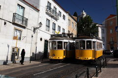 EUROPE PORTUGAL LISBON TRANSPORT FUNICULAR TRAIN Royalty Free Stock Photography