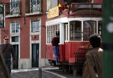 EUROPE PORTUGAL LISBON TRANSPORT FUNICULAR TRAIN Royalty Free Stock Image