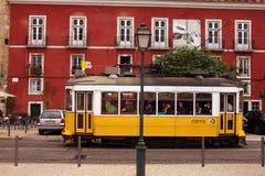 EUROPE PORTUGAL LISBON TRANSPORT FUNICULAR TRAIN Stock Image