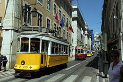 EUROPE PORTUGAL LISBON TRANSPORT FUNICULAR TRAIN Stock Photography