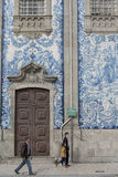 EUROPE PORTUGAL PORTO RIBEIRA TILE Royalty Free Stock Photography