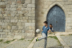EUROPE PORTUGAL PORTO STREET SOCCER FOOTBALL Stock Images