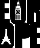 Europe poster Stock Photo