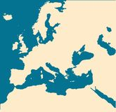 europe pusta mapa Obraz Royalty Free