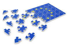 Europe puzzle flag Royalty Free Stock Image