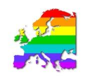 Europe - Rainbow flag pattern Royalty Free Stock Photo