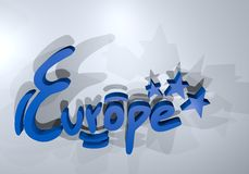 Europe render symbol Stock Photography
