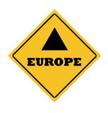 Europe road sign Stock Photography