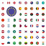 Europe round flag icon. Round World Flags Vector illustration Icons Set. Europe round flag icon. Round World Flags Vector illustration Icons Set Stock Image