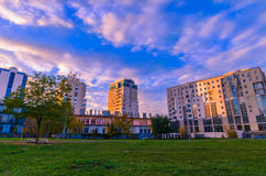 sunset in central park, Brasov (Kronstadt) Stock Photography