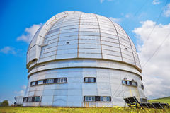 Europe's largest optical telescope azimuth. Royalty Free Stock Photos
