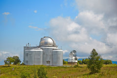Europe's largest optical telescope azimuth. Small optical telesc Stock Photos