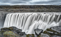 Europe`s Most Powerful Waterfall, Dettifoss in Iceland Stock Photography