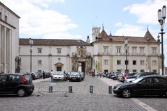 Europe's oldest university in Coimbra Royalty Free Stock Photo