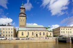 Europe, Scandinavia, Sweden, Gothenburg, Fattighusan Canal & Svenska Kyrkan Stock Images