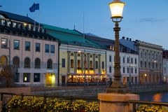 Europe, Scandinavia, Sweden, Gothenburg, Restaurant on Sodra Hamng Royalty Free Stock Photography