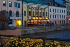 Europe, Scandinavia, Sweden, Gothenburg, Restaurant on Sodra Hamng Stock Images