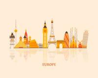 Europe skyline Royalty Free Stock Photography