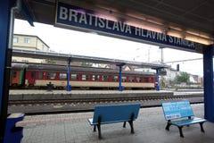 EUROPE SLOVAKIA BRATISLAVA TRAIN STATION Stock Images