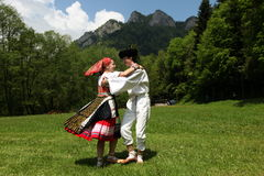 EUROPE SLOVAKIA CERVENY KLASTOR FOLK FESTIVAL Royalty Free Stock Photos