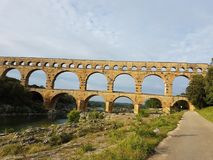 Europe. South of France. Gap region. Ancient romaine aqueduct. Buildings of old civilisation. Europe. South of France. Gap region. Ancient romaine aqueduct royalty free stock photography