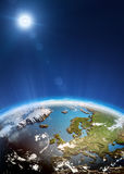 Europe from space. Elements of this image furnished by NASA Stock Photo