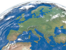 Europe from space Stock Photo