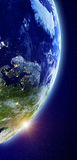 Europe from space background Royalty Free Stock Photography