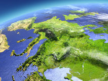 Europe from space Royalty Free Stock Photos