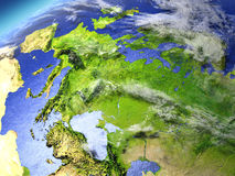 Europe from space Stock Images