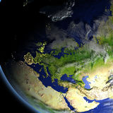 Europe from space Stock Photos
