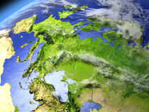 Europe from space Royalty Free Stock Image